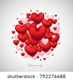 heart 3d red vector... | Shutterstock .eps vector #792276688