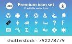 help icons. set of 21 editable... | Shutterstock .eps vector #792278779