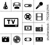 entertainment icons. set of 13... | Shutterstock .eps vector #792281944