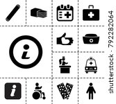 help icons. set of 13 editable... | Shutterstock .eps vector #792282064