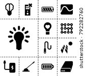 electricity icons. set of 13... | Shutterstock .eps vector #792282760