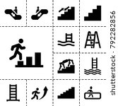 staircase icons. set of 13... | Shutterstock .eps vector #792282856