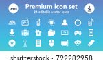 computer icons. set of 21... | Shutterstock .eps vector #792282958