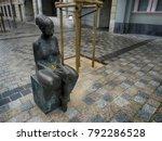 sculpture in street of logrono... | Shutterstock . vector #792286528