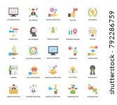 flat vector icons set of... | Shutterstock .eps vector #792286759