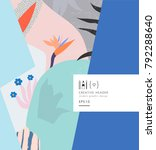 abstract creative header or... | Shutterstock .eps vector #792288640