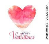 happy valentine's hand drawn... | Shutterstock .eps vector #792296854