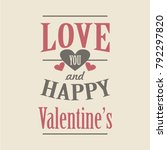 happy valentines day quotes... | Shutterstock .eps vector #792297820