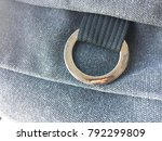 close up of metal loop rivet...   Shutterstock . vector #792299809