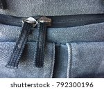 double zipper close up gray... | Shutterstock . vector #792300196