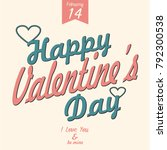 happy valentines day vector... | Shutterstock .eps vector #792300538