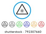 cardano danger rounded icon.... | Shutterstock .eps vector #792307660