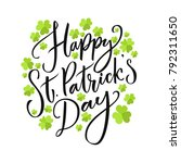 happy st. partick's day... | Shutterstock .eps vector #792311650
