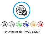 accept iota rounded icon. style ... | Shutterstock .eps vector #792313234