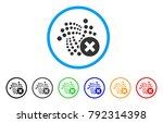 delete iota rounded icon. style ... | Shutterstock .eps vector #792314398