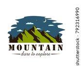 night mountain explorer... | Shutterstock .eps vector #792316990