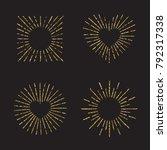 sunburst gold glitter hand... | Shutterstock .eps vector #792317338