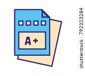 line color education...   Shutterstock .eps vector #792323284