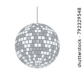 party disco sphere icon. flat...   Shutterstock .eps vector #792329548