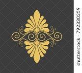 vintage baroque ornament. retro ... | Shutterstock .eps vector #792330259