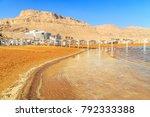 panorama of ein bokek with... | Shutterstock . vector #792333388