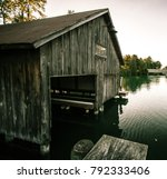 Old Wooden Boathouse. Exterior...