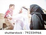 arabian family portrait in the... | Shutterstock . vector #792334966