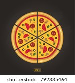 pizza flat icon isolated on... | Shutterstock .eps vector #792335464