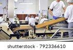 workers sort biscuits on a... | Shutterstock . vector #792336610