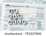 close macro photo of usa irs... | Shutterstock . vector #792337840