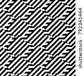 geometric seamless black and... | Shutterstock .eps vector #792341464