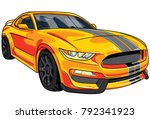illustration of orange  sport... | Shutterstock .eps vector #792341923
