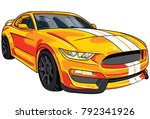 illustration of yellow  sport... | Shutterstock .eps vector #792341926