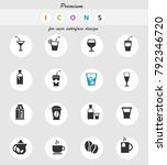 drinks web icons for user... | Shutterstock .eps vector #792346720
