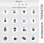 drinks web icons for user... | Shutterstock .eps vector #792346720