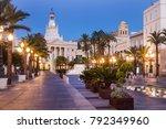 Cadiz City Hall on Plaza San Juan de Dios. Cadiz, Andalusia, Spain.
