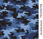 camouflage seamless pattern.... | Shutterstock .eps vector #792350758
