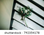 bridal bouquet. the bride's... | Shutterstock . vector #792354178