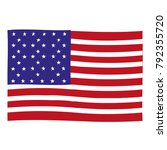 american flag. vector image of... | Shutterstock .eps vector #792355720