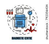 logo for diagnostic medical...   Shutterstock .eps vector #792356434