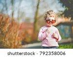 portrait of a cute little girl...   Shutterstock . vector #792358006