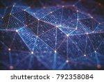 3d illustration  abstract... | Shutterstock . vector #792358084