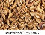 heap of unshelled walnuts  seen ... | Shutterstock . vector #79235827
