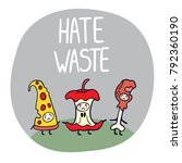 hate waste ecological... | Shutterstock .eps vector #792360190