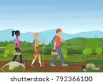 illustration of happy friends...   Shutterstock . vector #792366100