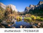 el capitan in fall  yosemite... | Shutterstock . vector #792366418