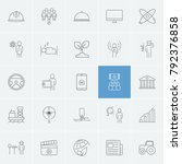 industrial icons set with... | Shutterstock . vector #792376858