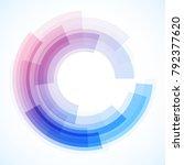 geometric frame from circles ... | Shutterstock .eps vector #792377620