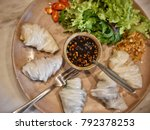 dumpling  wonton  thailand food ...   Shutterstock . vector #792378253