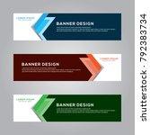 abstract modern banner... | Shutterstock .eps vector #792383734
